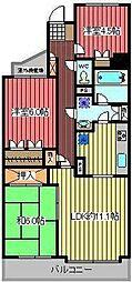 川口中青木パークホームズ[2階]の間取り