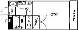 APT雄徳山[207号室]の間取り