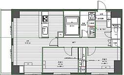 JR山手線 高田馬場駅 徒歩12分の賃貸マンション 2階2LDKの間取り