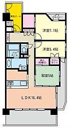 ライオンズマンション茅ヶ崎サザンビーチ[604号室]の間取り