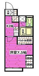 広島県安芸郡熊野町城之堀1丁目の賃貸アパートの間取り