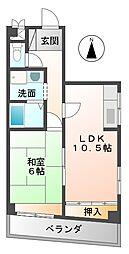 宮崎ハイツ[2階]の間取り