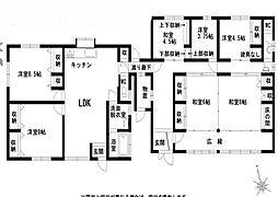 [一戸建] 熊本県八代市北平和町 の賃貸【/】の間取り