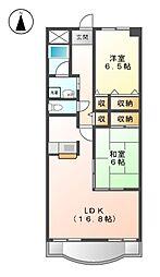 シャトーディネゾー[4階]の間取り