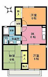 エクセルビュー泉台B[2階]の間取り