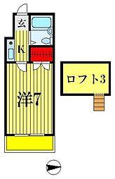 レオパレス松戸第11[1階]の間取り