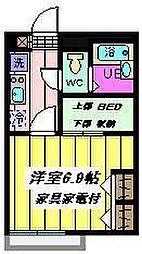 埼玉県さいたま市西区佐知川の賃貸アパートの間取り