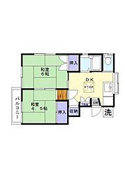 櫻田荘[2号号室]の間取り