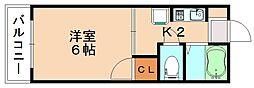 フォレストパークキャンパスサイド[1階]の間取り