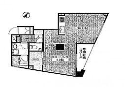 東京都目黒区碑文谷1丁目の賃貸マンションの間取り