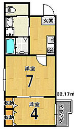 nico西京極[3階]の間取り