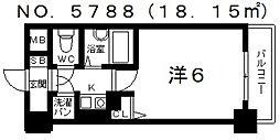 リーガル天王寺烏ヶ辻[7階]の間取り