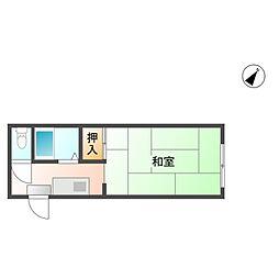 プレアール老松町I[1階]の間取り