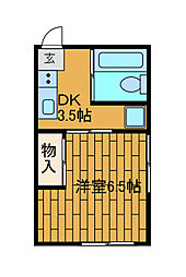 井上ビル[3−D号室]の間取り