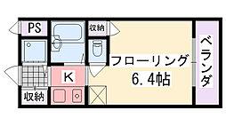 ジョイフル武庫川[207号室]の間取り