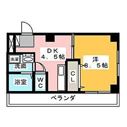 中山ハイツ[3階]の間取り