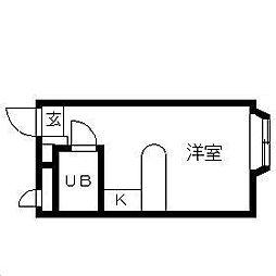 千葉県船橋市咲が丘2丁目の賃貸アパートの間取り