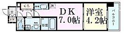 レオンコンフォート梅田北 5階1DKの間取り