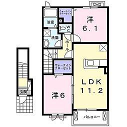 レディバードB[2階]の間取り