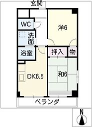 メゾン丸万[2階]の間取り