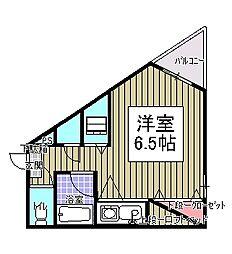 エクセレント青柳[5階]の間取り