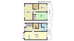 [テラスハウス] 大阪府豊中市緑丘4丁目 の賃貸【/】の間取り