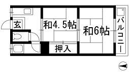 カーサ呉羽の里[1階]の間取り