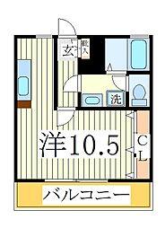 千葉県流山市向小金1丁目の賃貸アパートの間取り