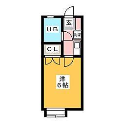 松野ハイツ[1階]の間取り