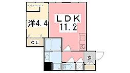 高岡中村コーポⅣ[C-3号室]の間取り
