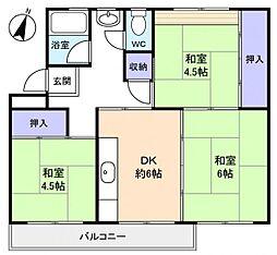 花見川団地7街区2号棟[5階]の間取り