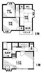 [テラスハウス] 東京都小平市大沼町1丁目 の賃貸【/】の間取り