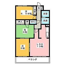 ロジュマン春日井[7階]の間取り