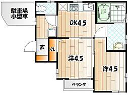 [タウンハウス] 福岡県北九州市八幡東区八王寺町 の賃貸【/】の間取り