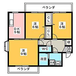 MIKIハイツ[1階]の間取り