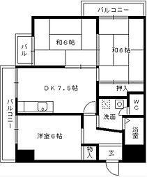 第17上野ビル[1103号室]の間取り