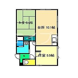メゾンセフィラ A棟[1階]の間取り