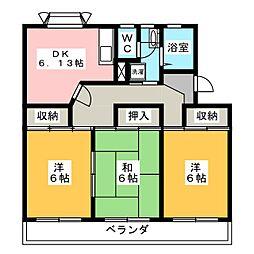 衣浦マンション B棟[1階]の間取り