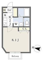 東武伊勢崎線 谷塚駅 徒歩4分の賃貸アパート 1階1Kの間取り