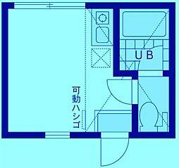 ユナイト武蔵新城アンドレアの杜[2階]の間取り