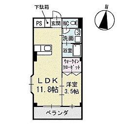 Mハウス2 3階[305号室]の間取り