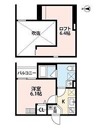 Osaka Metro千日前線 南巽駅 徒歩10分の賃貸アパート 1階1Kの間取り