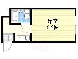 和田マンション 3階1Kの間取り