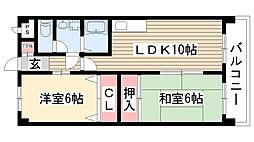 愛知県名古屋市名東区松井町の賃貸マンションの間取り