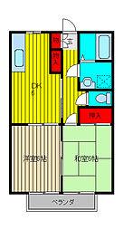 サンライズJUN[2階]の間取り