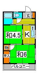 丸五コーポ[1階]の間取り