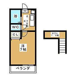 レジデンス小松島[1階]の間取り