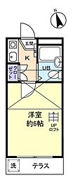 キャッスル勝田台[1階]の間取り