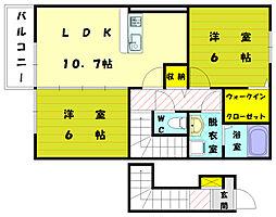 ベルコロレ5[2階]の間取り