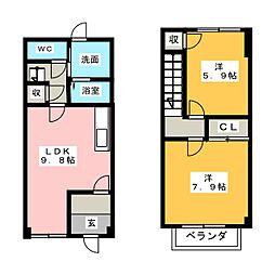 [テラスハウス] 愛知県小牧市大字北外山 の賃貸【/】の間取り